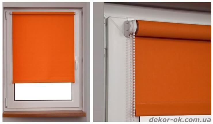 Рулонные шторы открытого типа